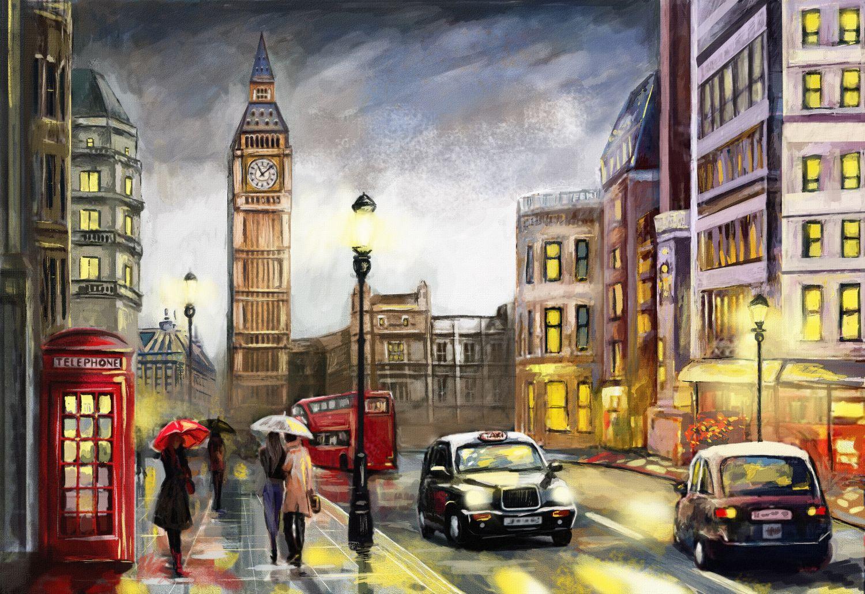 Фотообои «Лондон акварелью»