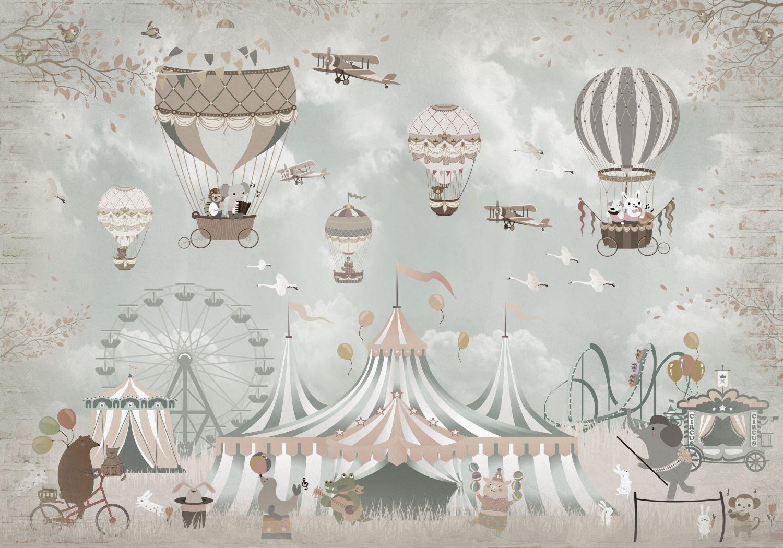 Фотообои «Цирк приехал в город»