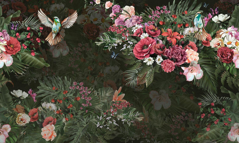 Фотообои «Птицы в цветах»