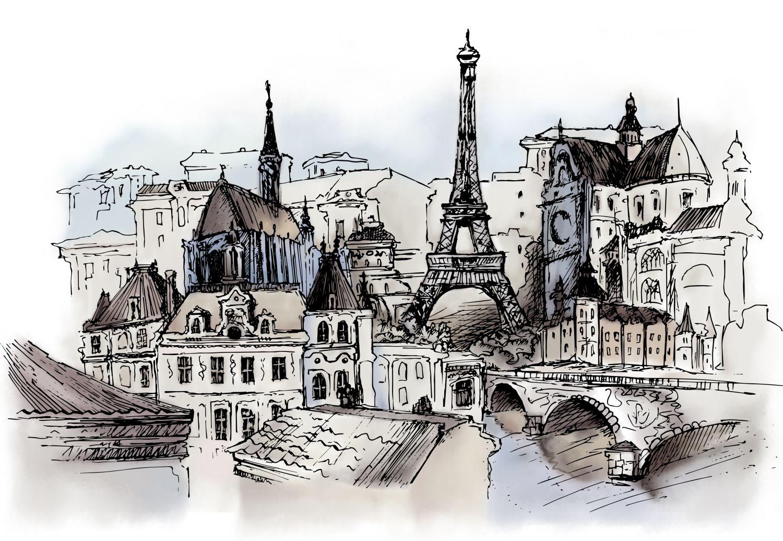 Фотообои «Париж в граффити »