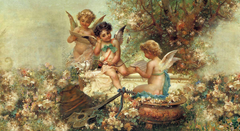 Фрески «Три купидона в саду»