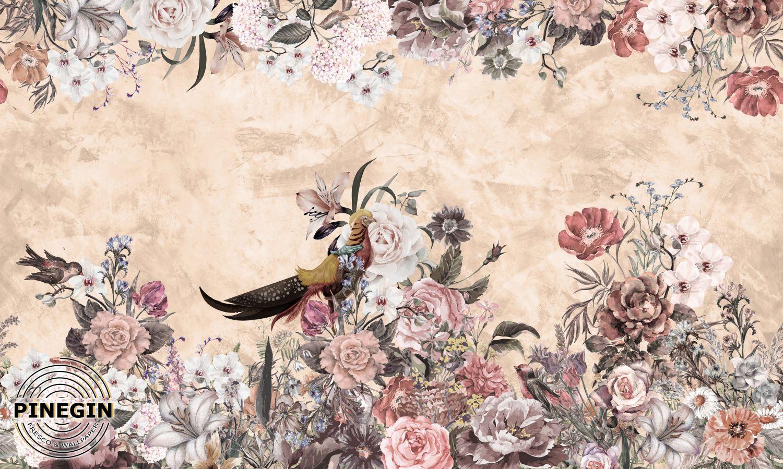 Фотообои «Птицы в саду»
