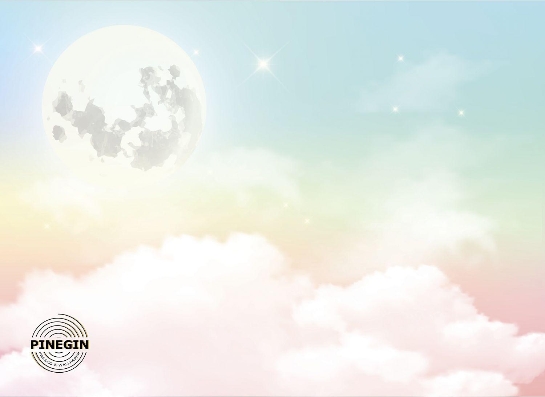 Фотообои «Луна над облаками»
