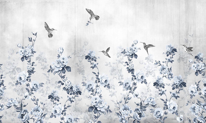Фрески «Синие цветы»