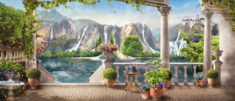 Фрески «Горные водопады»