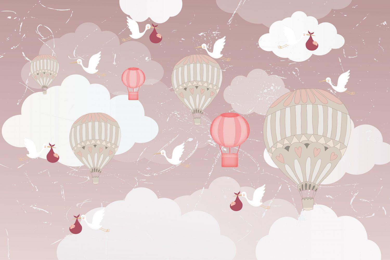 Фотообои «Воздушные шары аист»