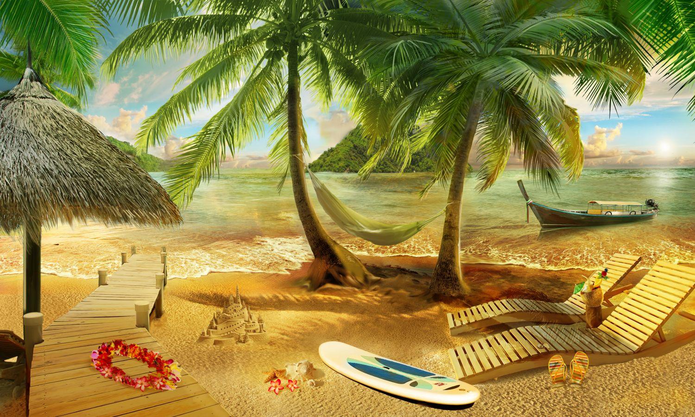 Фотообои «Пальмы и океан»