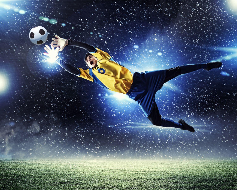 Фотообои «Вратарь в прыжке»
