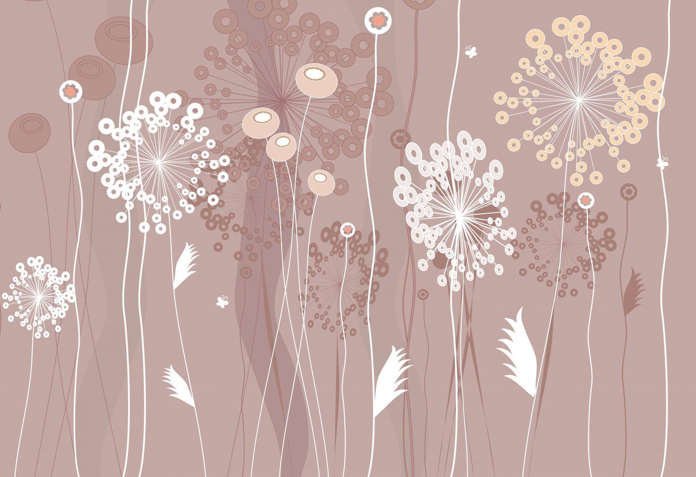 Фотообои «Векторные цветы »