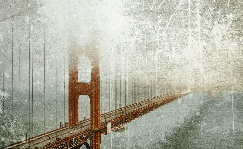 Фотообои «Мосты в тумане 27»