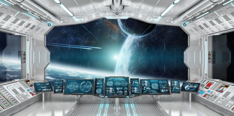 Фотообои «Вид из космического корабля »