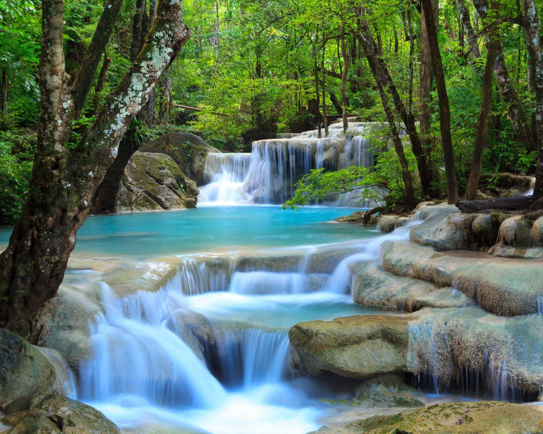 Фотообои «Водопад лазурь»