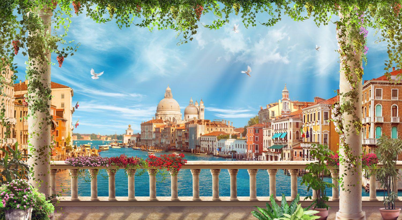 Фотообои «Божественный вид на собор Санта-Марии в Венеции»