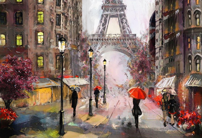Фотообои «Париж акварелью»