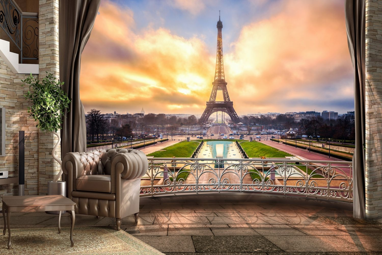 Фрески «Потрясающий вид на Эйфелеву башню»