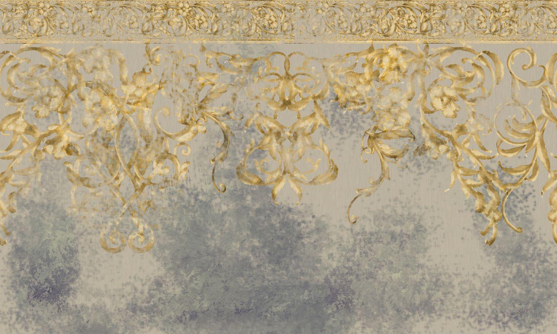 Фотообои «Абстрактный орнамент в стиле барокко»