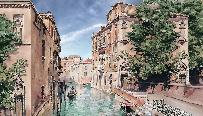 Фотообои «Венеция акварелью»