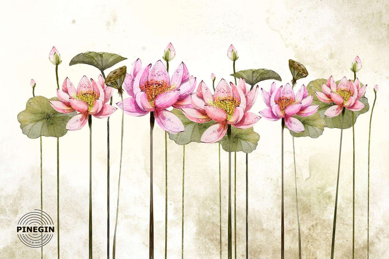 Фотообои «Розовые лотосы»