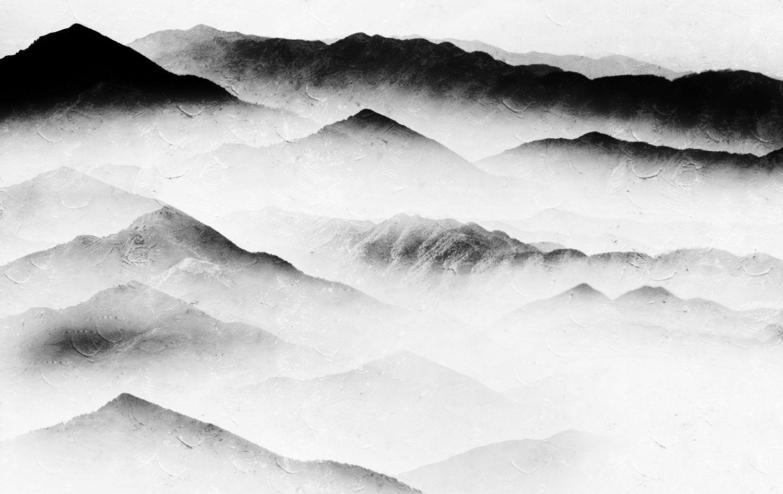 Фотообои «Горы в молочной дымке »