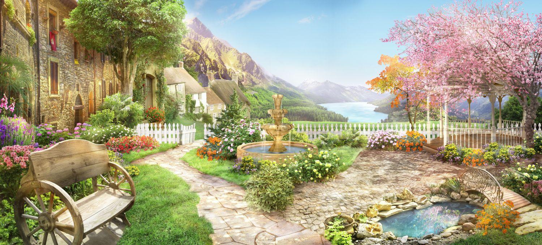 Фрески «Цветущий сад»