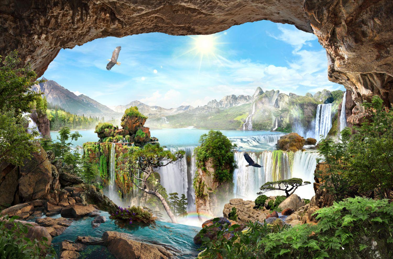 Фрески «Могущественный водопад»