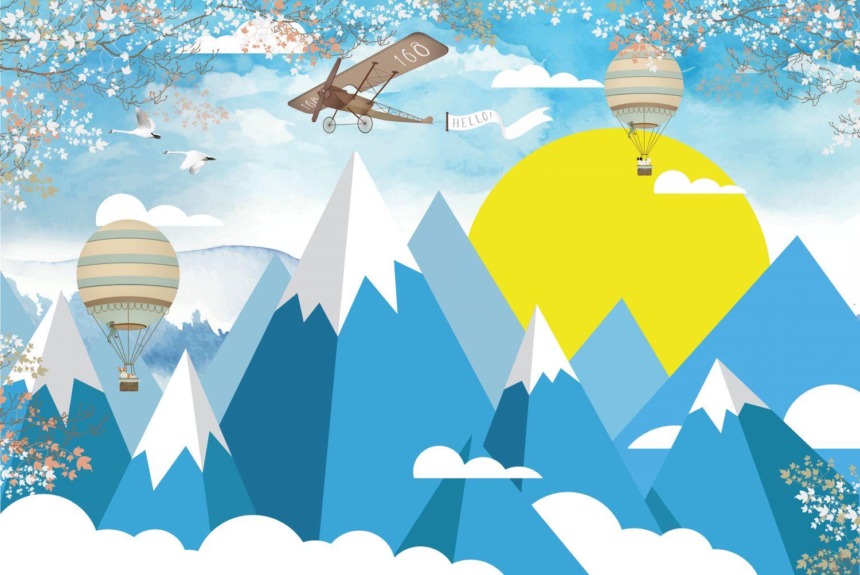 Фрески «Горы аппликация »
