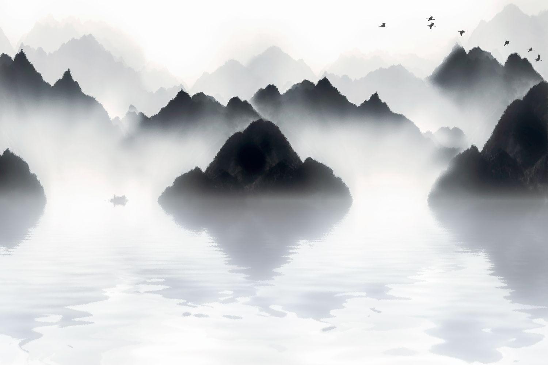 Фотообои «Горы плавающие в тумане »